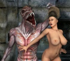 3D Monster wants to fuck a busty girl