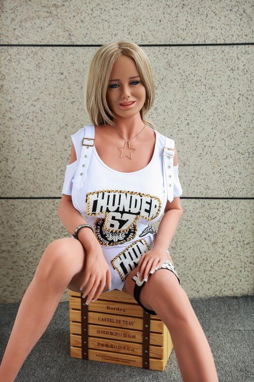 Blonde Short Hair Heatable Love Sex Doll Renee – 168 cm